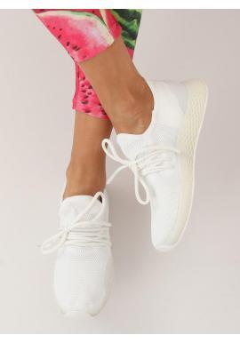 Štýlové dámske tenisky bielej farby