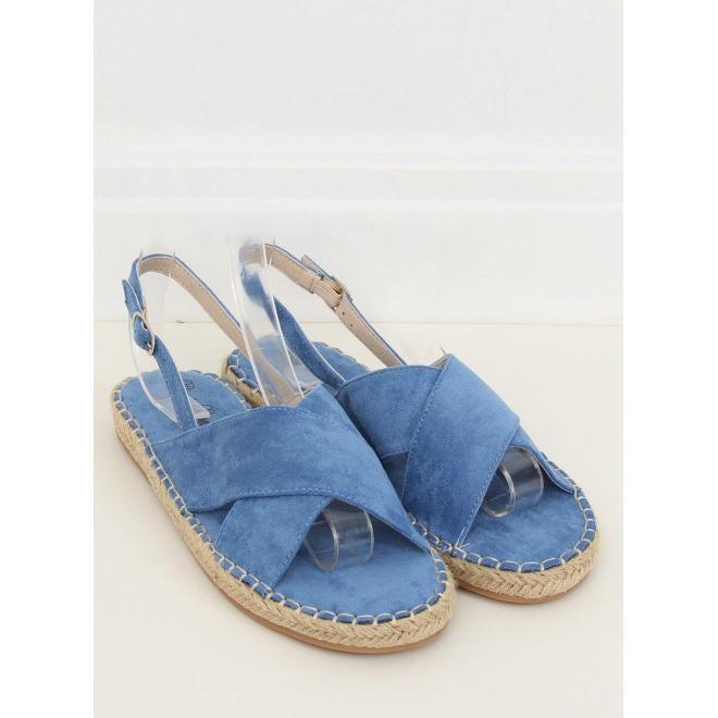 Semišové dámske espadrilky modrej farby