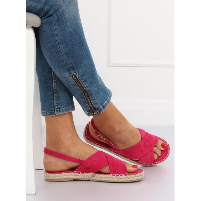 Ružové semišové espadrilky pre dámy