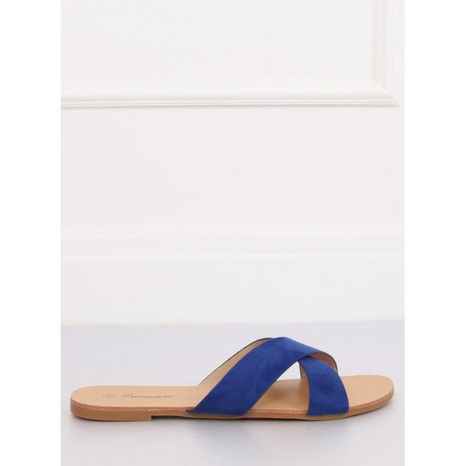 Modré semišové šľapky pre dámy