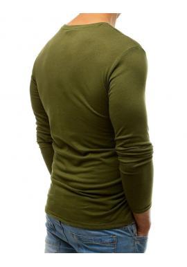 Štýlové pánske tričko zelenej farby s potlačou