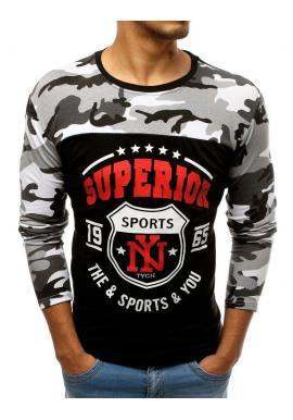 Pánske športové tričko s potlačou v čiernej farbe