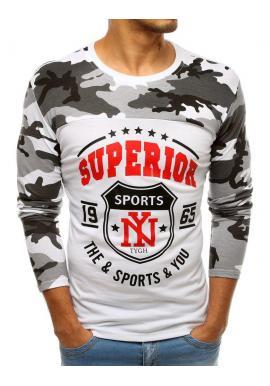 Biele športové tričko s potlačou pre pánov