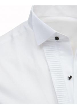 Biela smokingová košeľa s plisovaním pre pánov
