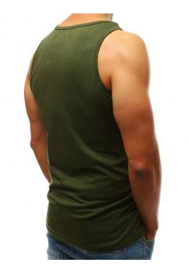 Zelené módne tričko s potlačou pre pánov