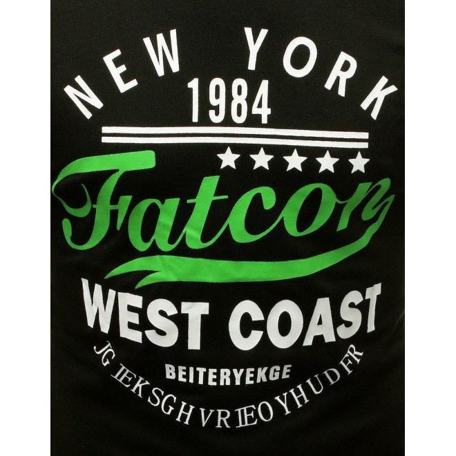 Pánske módne tričko s potlačou v čiernej farbe