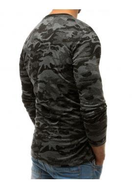 Sivé maskáčové tričko s potlačou pre pánov