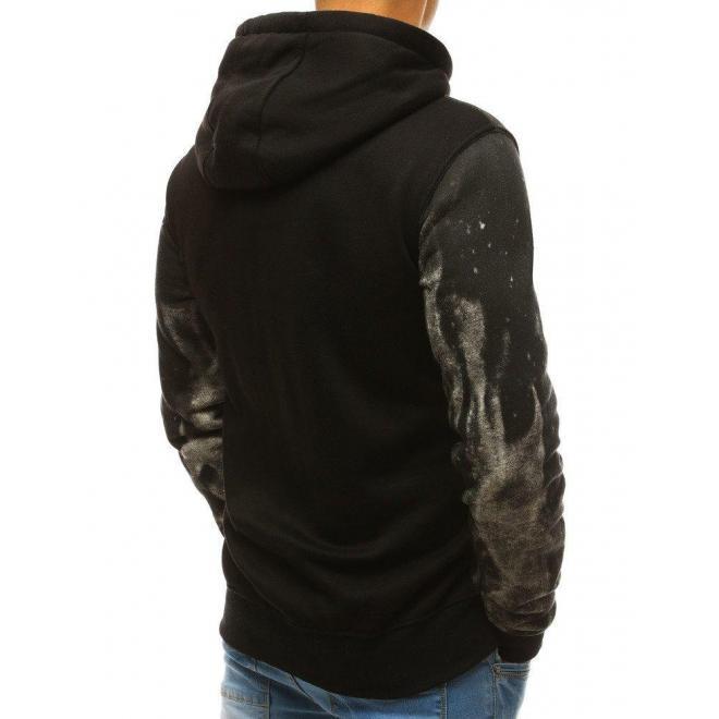 Štýlová pánska mikina tmavosivej farby s potlačou