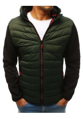 Zelená prešívaná bunda na prechodné obdobie pre pánov
