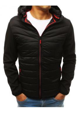 Prešívaná pánska bunda čiernej farby na prechodné obdobie