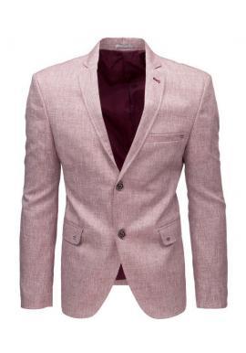 Pánske neformálne sako v ružovej farbe