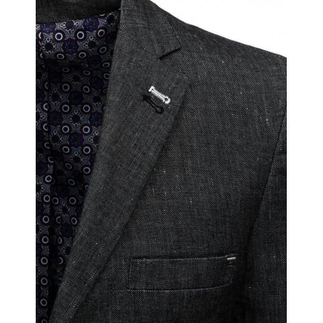 Jednoradové pánske sako tmavosivej farby