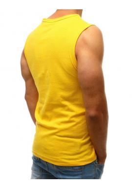 Pánske bavlnené tričko s potlačou v žltej farbe