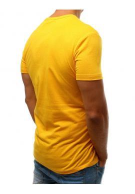 Športové pánske tričko žltej farby s potlačou