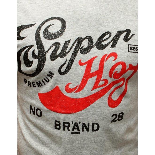 Svetlosivé štýlové tričko s potlačou pre pánov