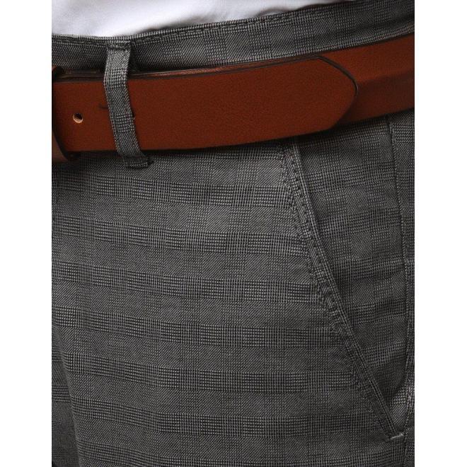 Pánske elegantné nohavice Chinos v sivej farbe