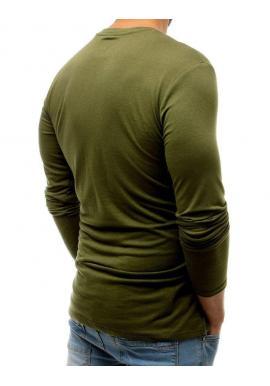 Módne pánske tričko zelenej farby s potlačou