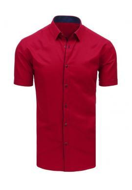 Elegantná pánska košeľa bordovej farby s krátkym rukávom