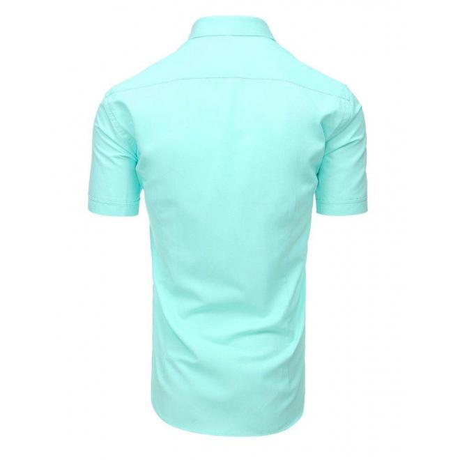 Mätová elegantná košeľa s krátkym rukávom pre pánov
