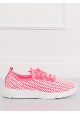 Dámske športové tenisky so sieťkou v ružovej farbe
