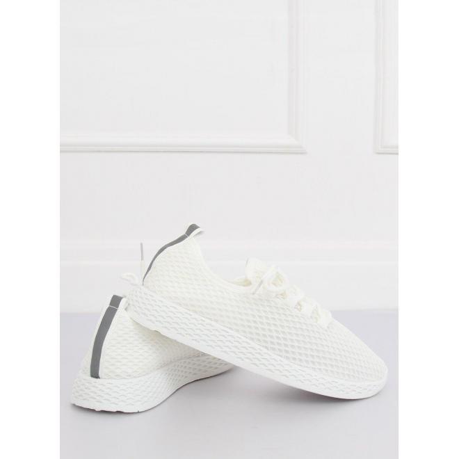 Biele športové tenisky so sieťkou pre dámy