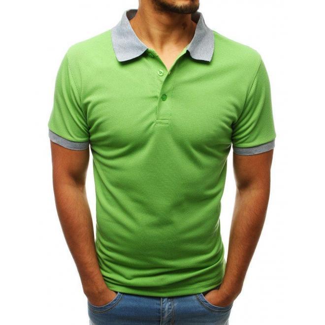 Zelená klasická polokošeľa pre pánov