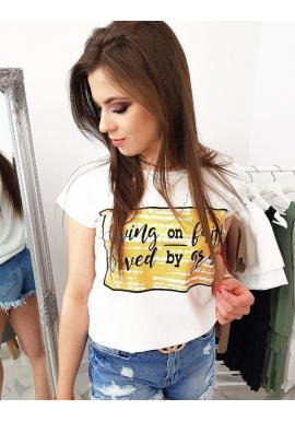 Smotanové štýlové tričko s potlačou pre dámy