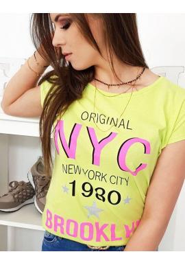 Zelené štýlové tričko s potlačou pre dámy