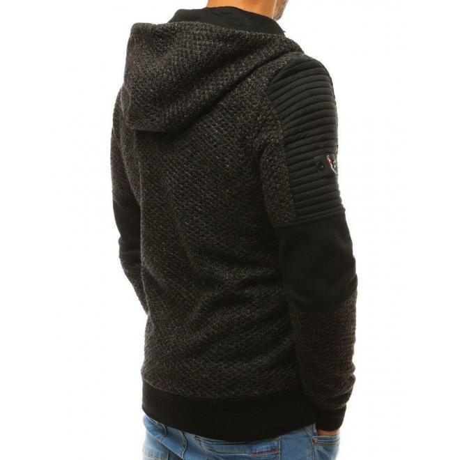 Čierna štýlová mikina s kapucňou pre pánov