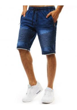 Pánske módne kraťasy s rifľovým vzhľadom v modrej farbe