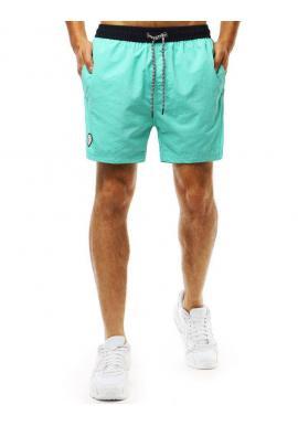 Zelené módne kraťasy s potlačou na boku pre pánov