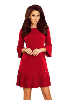 1ae985b8bc Bordové pohodlné šaty s plisovanými prvkami pre dámy ...