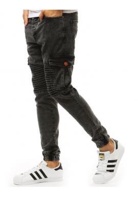 Pánske štýlové joggery v čiernej farbe