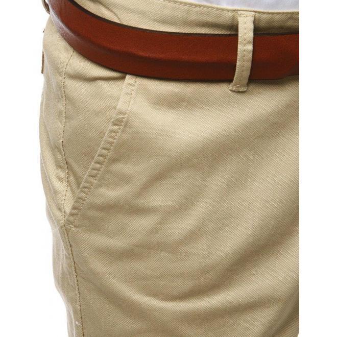 Pánske elegantné nohavice Chinos v svetlobéžovej farbe