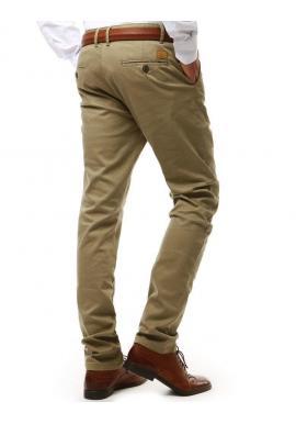 Klasické pánske nohavice Chinos béžovej farby