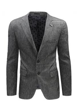 Sivé neformálne sako s dvomi gombíkmi pre pánov