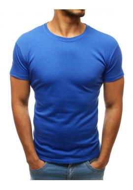 Klasické pánske tričká modrej farby s okrúhlym výstrihom
