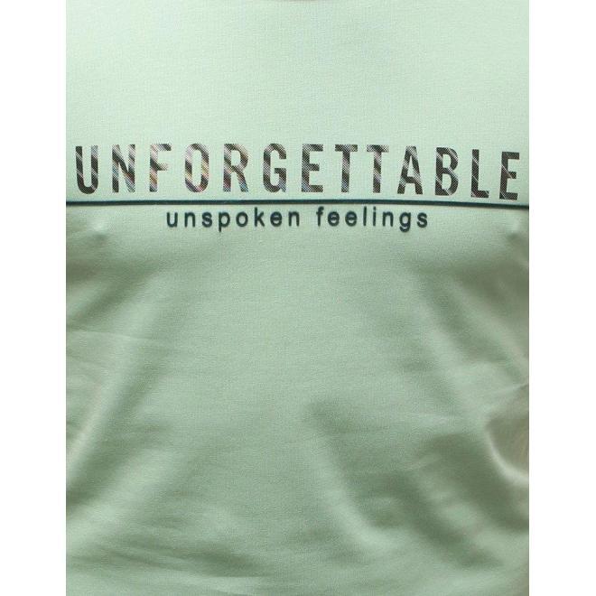 Svetlozelené módne tričko s potlačou pre pánov