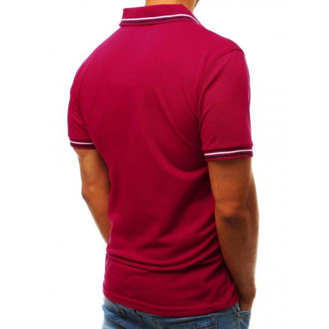 Klasická pánska polokošeľa bordovej farby