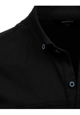 Neformálna pánska košeľa čiernej farby s dlhým rukávom