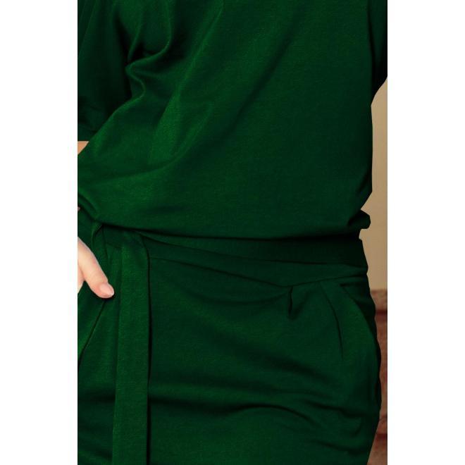 Bavlnené dámske šaty zelenej farby s krátkym rukávom