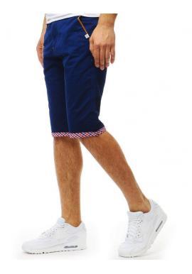 Modré rifľové kraťasy pre pánov