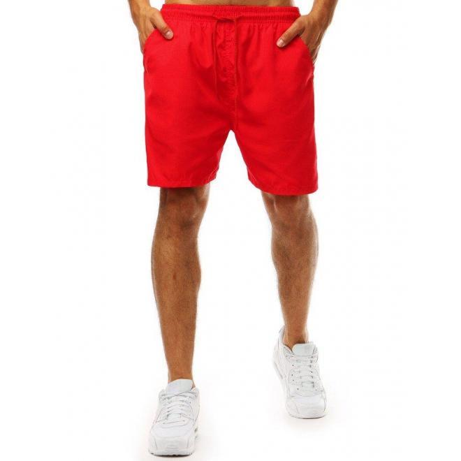Červené klasické kraťasy na kúpanie pre pánov
