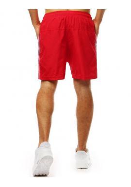Červené módne kraťasy na kúpanie pre pánov