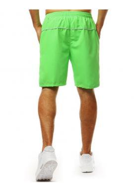 Klasické pánske kraťasy zelenej farby na kúpanie