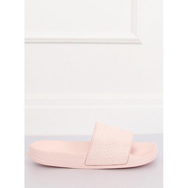 Dámske penové šľapky s tlačeným vzorom v ružovej farbe