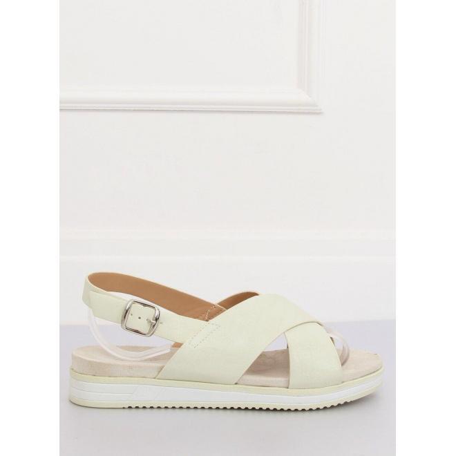 Biele pohodlné sandále pre dámy