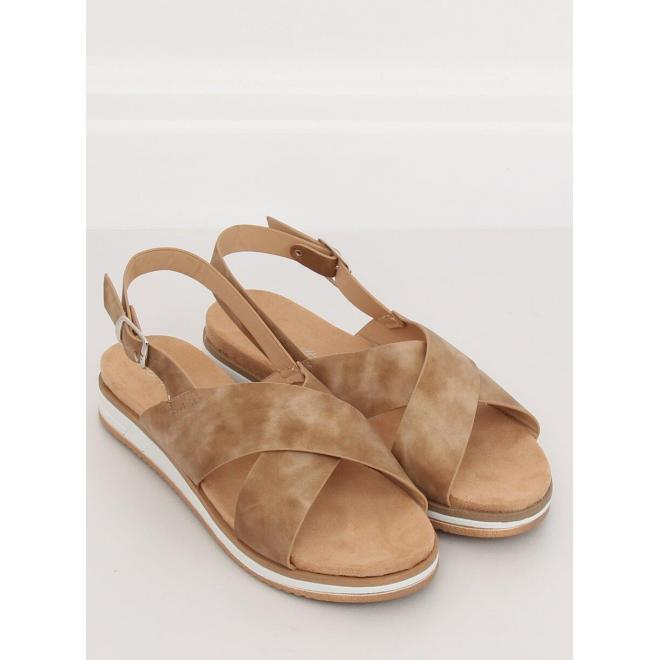 Dámske pohodlné sandále v béžovej farbe