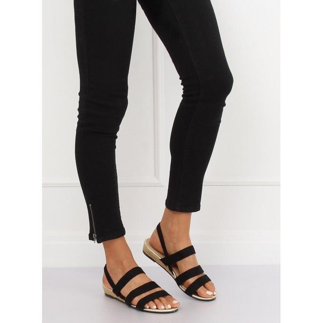 Dámske módne espadrilky s jemným vyvýšením v čiernej farbe