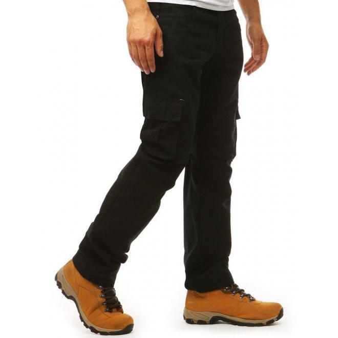 Čierne športové nohavice vo vojenskom štýle pre pánov
